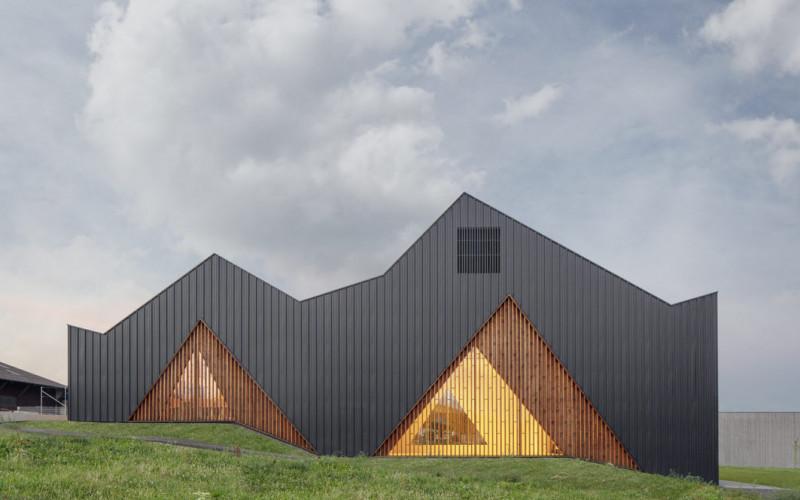 Prix International Architecture Bois 2019 décerné par la presse : la salle polyvalente de Le Vaud