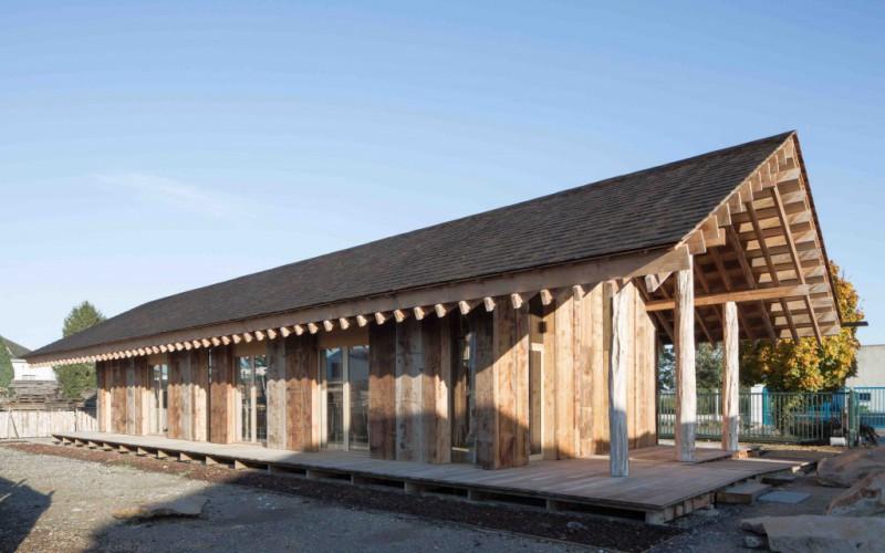 Pavillon d'accueil de la scierie, Corzé
